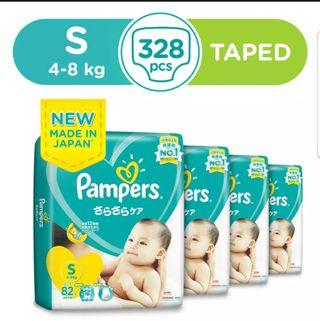 🚚 Pampers Baby Dry S size (4-8kg) Taped