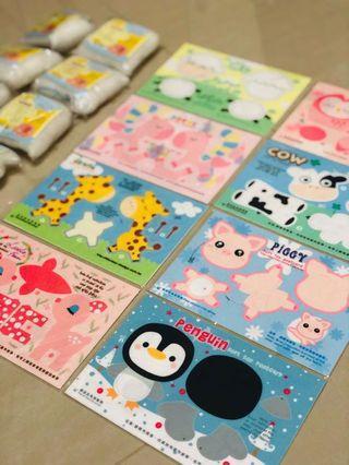 Cute handicraft postcard