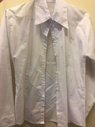 🚚 白長袖襯衫