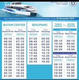 Majestic ferry ticket Batam