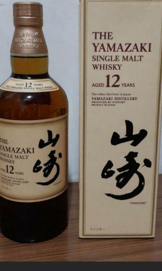 山崎12年威士忌700ml連盒一支(日版)