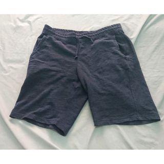Uniqlo Celana Pendek Relax Shorts Rileks Jersey Biru