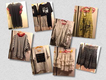 女裝衫及裙共8件
