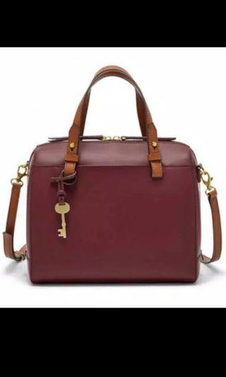 Tas Fossil Cabernet Rubberized Leather