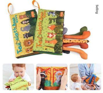 🚚 Cloth book tail book for babies (2 pc set)