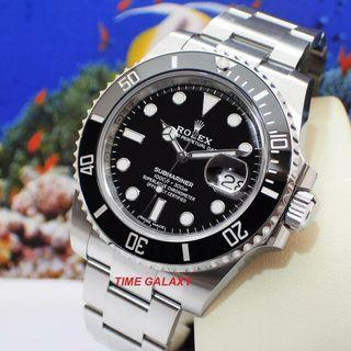 Brand New ROLEX Black Ceramic Submariner Date 40mm Stainless Steel watch. Model 116610LN