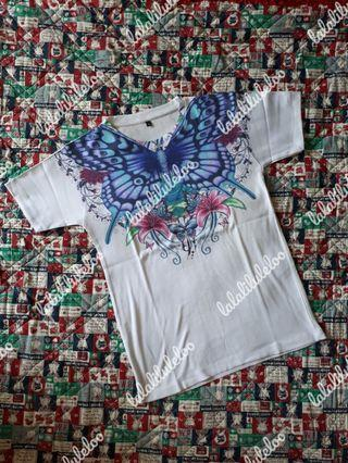 BKK white butterfly printed tee