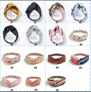 Populer/Fashion/Premium bandana twist elastis ala korea wanita bando
