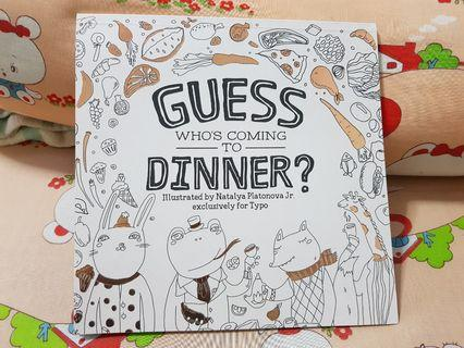 Guess Who's Coming to Dinner Adult Colouring Book (from Typo)