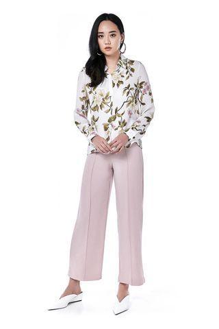 (XS) TEM Bezel Front Seam Straight Pants