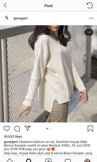 Gonegani Bianca Sweater (MAROON)
