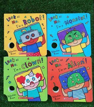 Mask Book, Board Book Scholastic Look at Me (4 books)