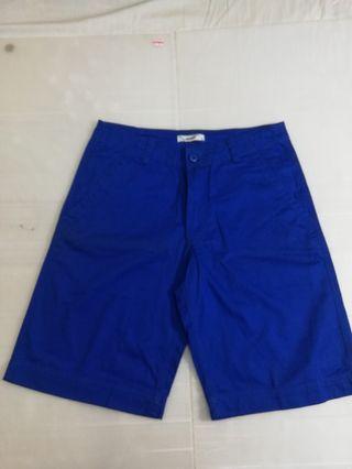 🚚 Ngu 古著 素面藍色短褲(質料高)