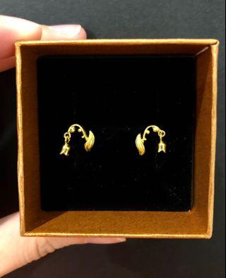 916 gold earrings