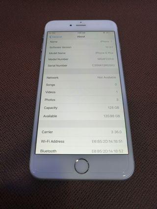 iPhone 6 Plus 128G Sliver 99 %New