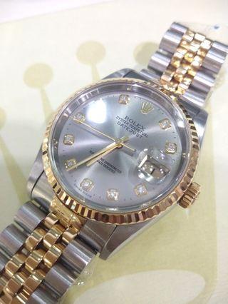 Authentic Rolex Datejust Diamond
