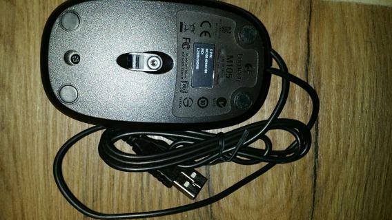 Logitech 羅技 M105 光學滑鼠 usb滑鼠 有線滑鼠
