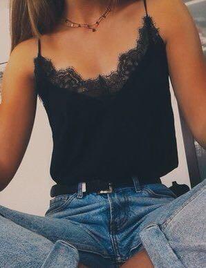 🏁H&M Black Lace Camisole