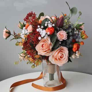 💓For Rental💓 Pre-wedding Shot Bouquet / Faux Flower Bouquet / Wedding Bouquet