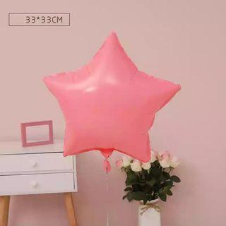 🚚 18-inch Macarons Red Star Shape Foil Balloon
