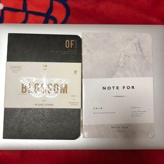 Marble print notebooks