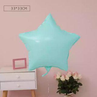 🚚 18-inch Macarons Tiffany Blue Star Shape Foil Balloon