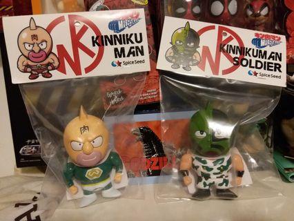 全新 未開封 會場限定 Spiceseed Muscle Shot Kinnikuman 筋肉人 & 士兵 JR東日本 ver. Made in Japan