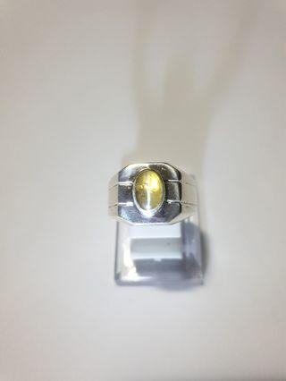 Natural Cat Eye Chrysoberyl on 925 Silver ring