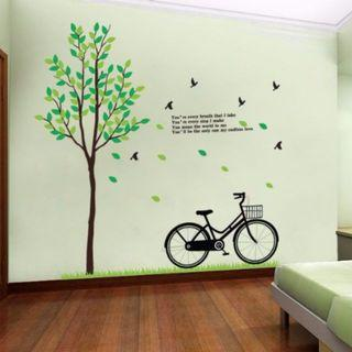 DIY Wall Decor Minimalist Decal Mural Vinyl Wallpaper Home Decor for Living Room Office Bedroom Kitchen Dining Room Tree Floral Plants