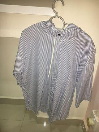Stripe Top with hoodie