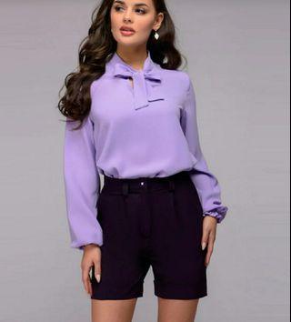 Women Casual Bow Bandage Blouse O Neck Long Sleeve. New Fashion Elegant Office Lady Work Shirt