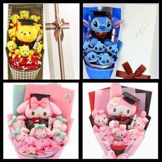 Graduation Bouquet / Graduation Flower Bouquet / Plush Toy Graduation / Grad / Convocation