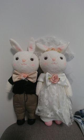 結婚公仔 婚禮用品 兔仔