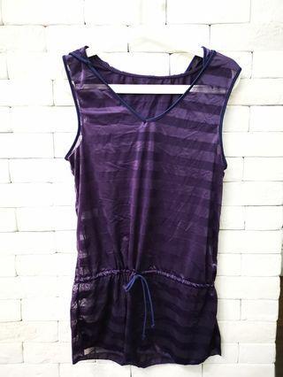 Purple Sleeveless Top bikini shirt