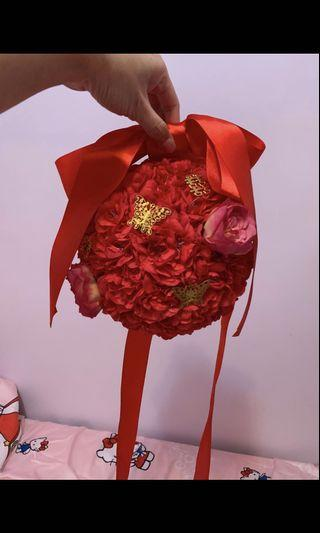 婚後物資 攔門花球 中式 佈置 大蝴蝶結