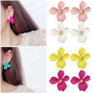 Korean Style Flower Stud Earrings