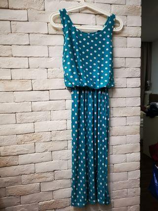 Polka Dot blue lady Dress