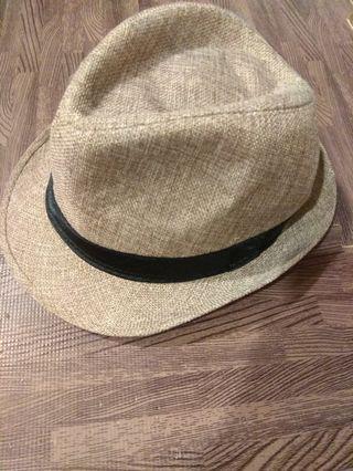 英倫風休閑草帽紳士帽山形帽