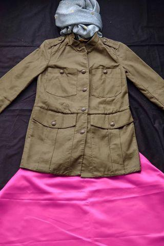 Coat panjang kancing 8 - premium