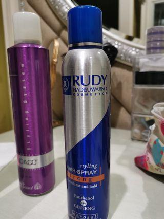 Hairspray strong for volume and hold
