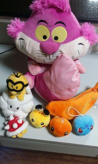 迪士尼 任天堂 愛麗絲夢遊仙境 柴郡猫妙妙貓 神奇寶貝 小火龍 瑪莉歐兄弟 布偶絨毛娃娃