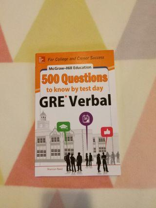 McGraw Hill GRE Verbal Questions revision book