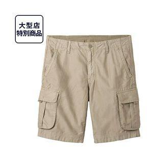 二手 優衣庫 UNIQLO 工作短褲 米色/S號