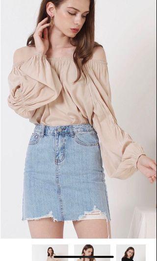 🚚 BN the willow label Jordyn Denim Skirt