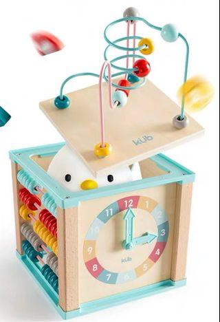 Baby wooden activity cube