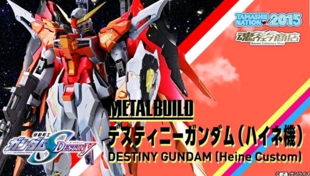 全新 靚盒 日版 Metal Build Destiny Gundam (Heine Custom) 高達 Seed Bandai