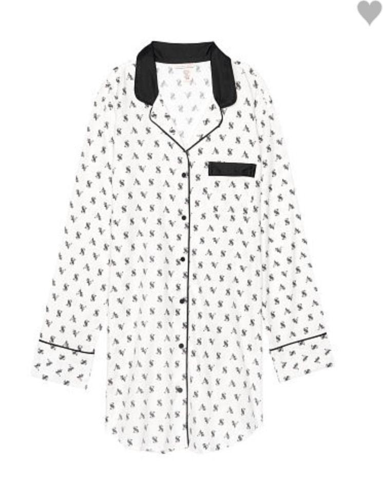 8b9dae07418a2 Brand New Authentic Victoria's Secret Flannel Sleepshirt Shirt Dress ...