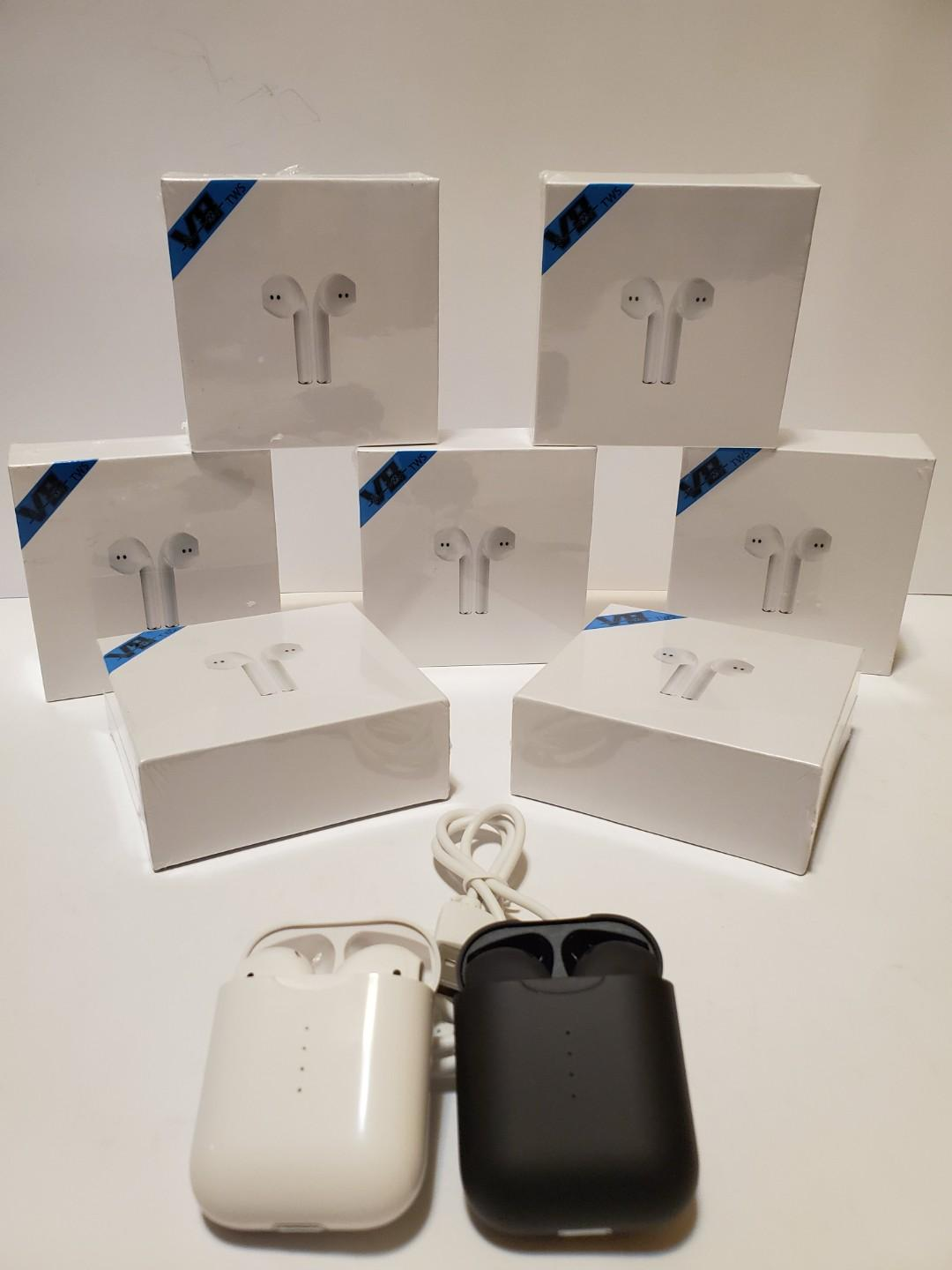 Brand New V8 TWS Wireless Blue tooth 5.0 Touch Earphones Headset For IOS and Android.