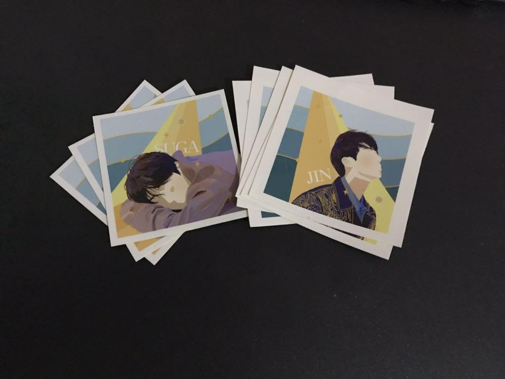 bts jin and suga stickers on Carousell