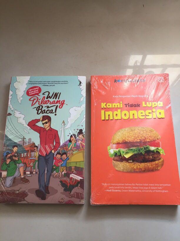 Buku WNI Dilarang Baca dan Kami Tidak Lupa Indonesia